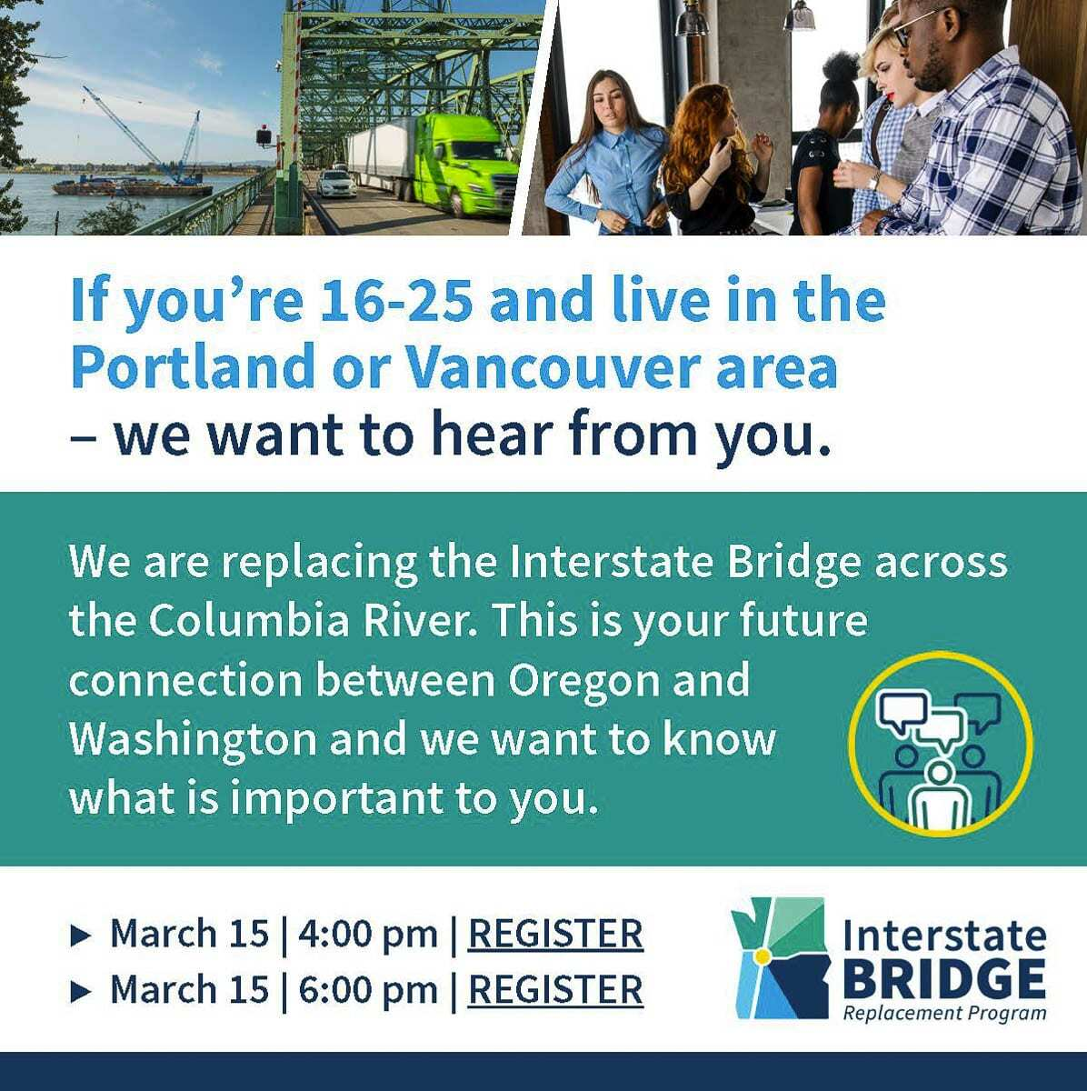 Members of the Clark County community will have upcoming opportunities to weigh in on the bi-state Interstate Bridge Replacement program.