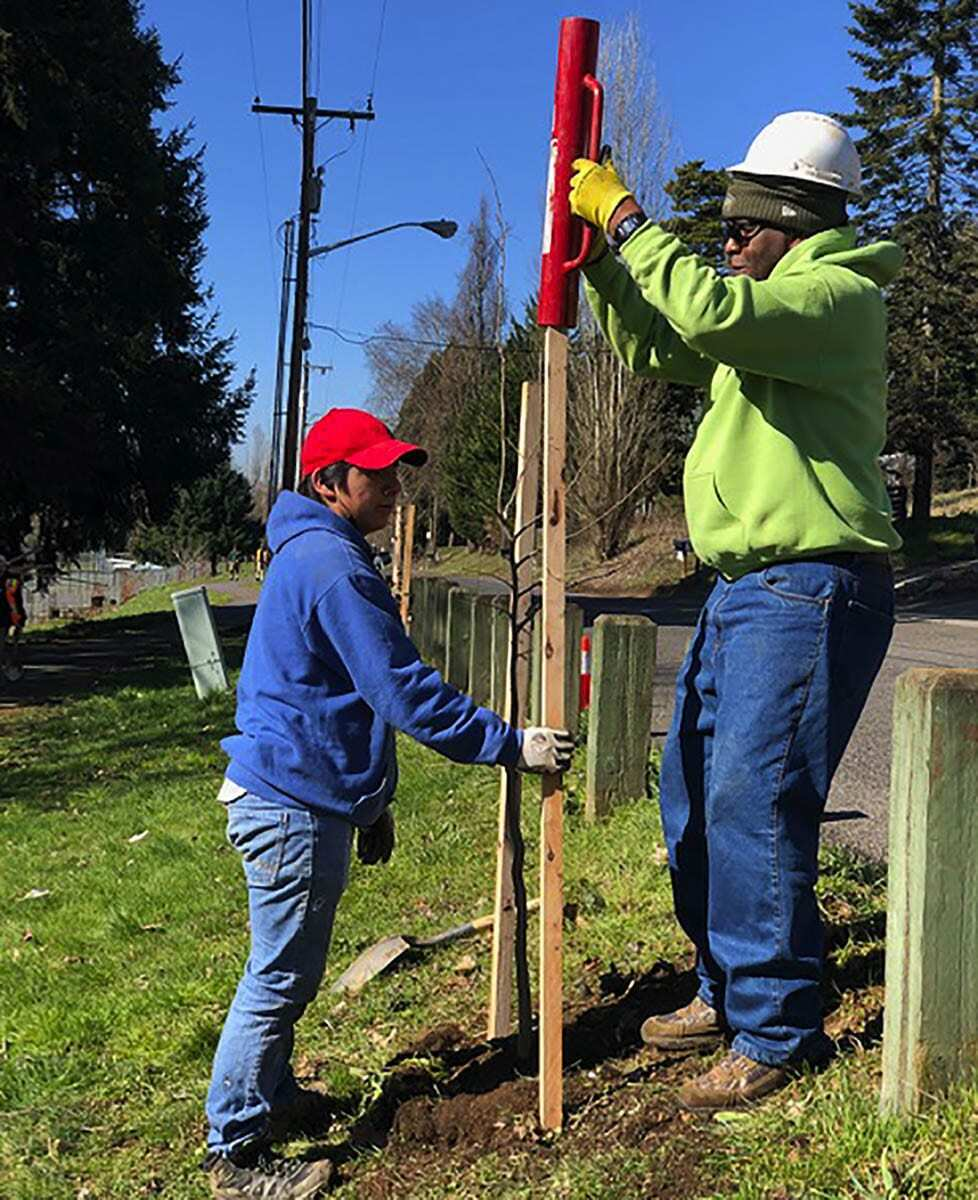 During Arbor Day, Vancouver's Urban Forestry Commission will present the annual Gordon and Sylvia MacWilliams Evergreen Award (Mac Award) to local youth empowerment group, the Urban Youth Program, led by Johnie Tucker. Photo courtesy of city of Vancouver