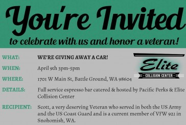 Battle Ground auto shop will give away a car to disabled veteran