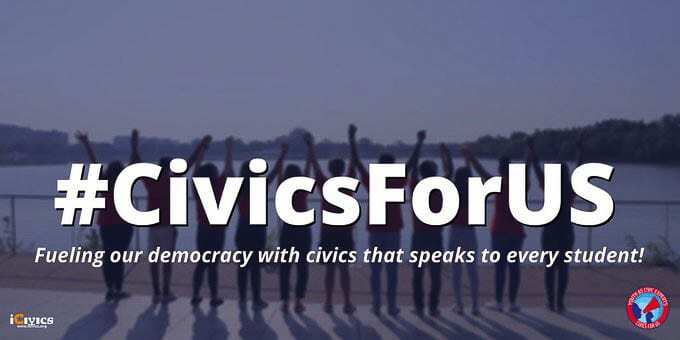 The #CivicsForUS social media campaign is the project of the Youth As Civic Experts Network, a nationwide network of middle and high school students advocating for equitable civic education. Photo courtesy of Youth as Civic Experts