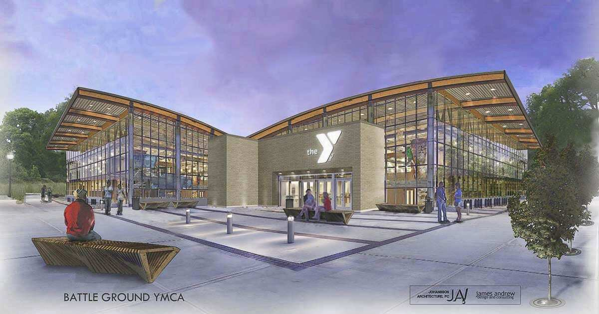 An artist's rendering of what a Battle Ground YMCA location might look like. Image courtesy Battle Ground YMCA Task Force