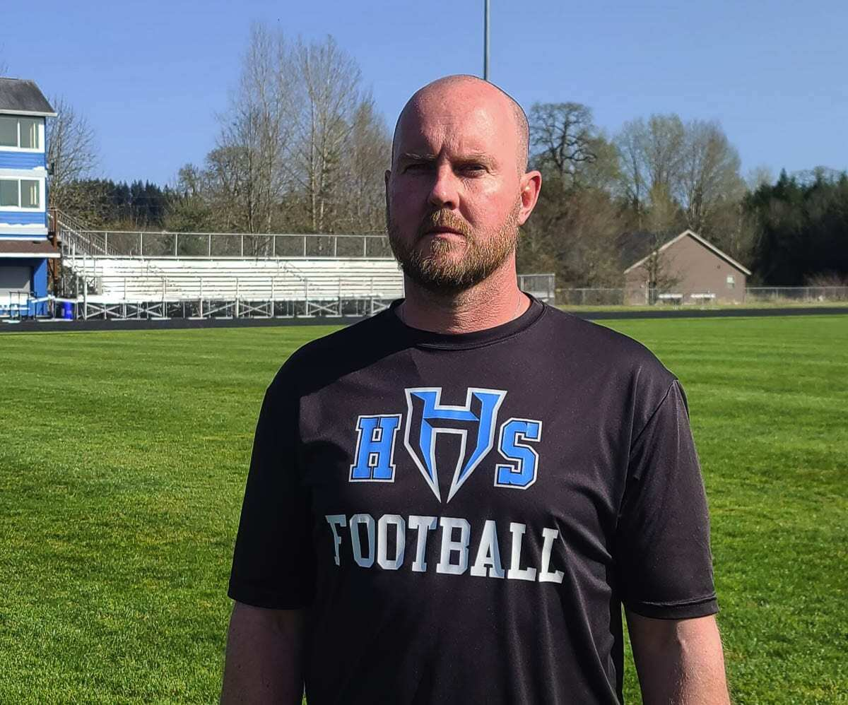 Clint LeCount, pending school board approval, will be the next head coach of Hockinson football. Photo by Paul Valencia