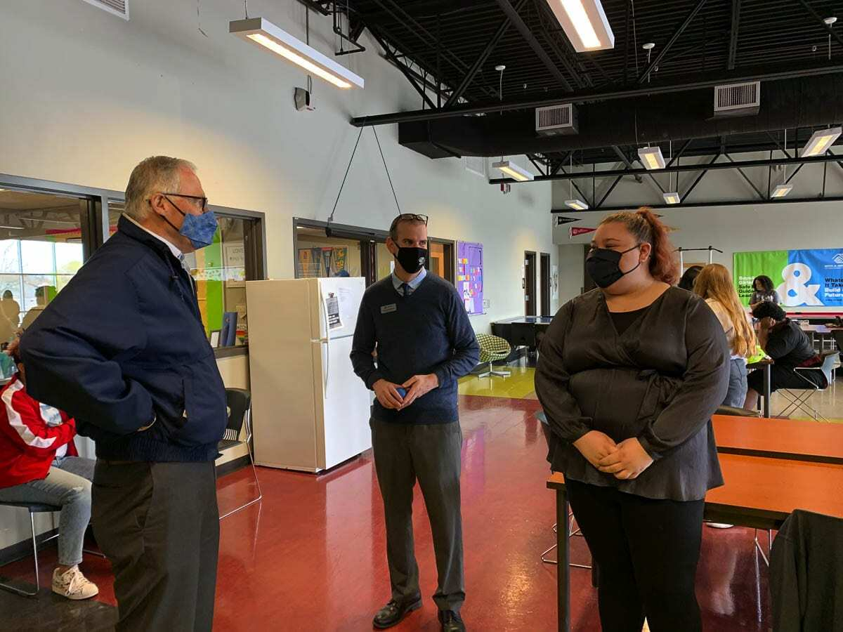 Washington Gov. Jay Inslee tours the Teen & Youth Center at the Boys and Girls Club in Vancouver on Friday. Photo courtesy Office of Washington Gov. Jay Inslee
