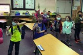 Woodland's first graders learn about one of the Pacific Northwest's biggest industries from an expert in the field