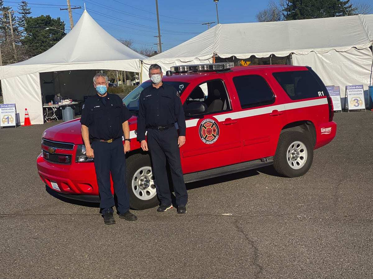 The Vancouver Fire Department is working with its partners at the local, state and federal level to do its part to help get the COVID-19 vaccination to as many people who want it. Photo courtesy of Vancouver Fire Department