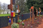 Washougal High School woodworking students donate bird houses to community garden