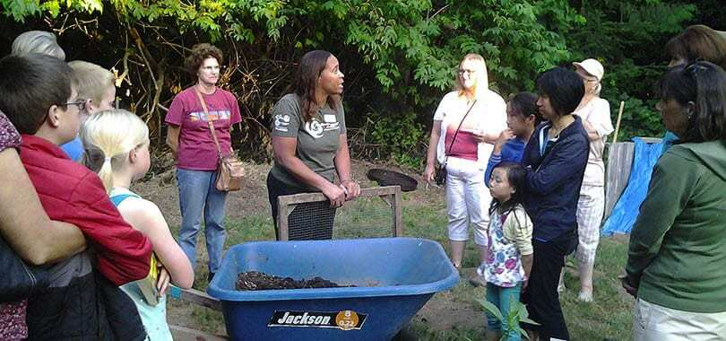 The four composting webinars will teach people how to keep food scraps out of the landfill by using their curbside composting cart or setting up successful composting systems at home. Three different home composting methods are highlighted. Photo courtesy of Clark County Master Composter Recyclers