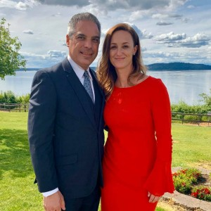 Dr. Raul Garcia and his wife Jessica as part of his campaign for Governor last May. He is an Emergency Room physician in Yakima. Photo Dr. Garcia