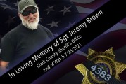 Memorial Service for CCSO Sergeant Jeremy Brown to be held Tuesday