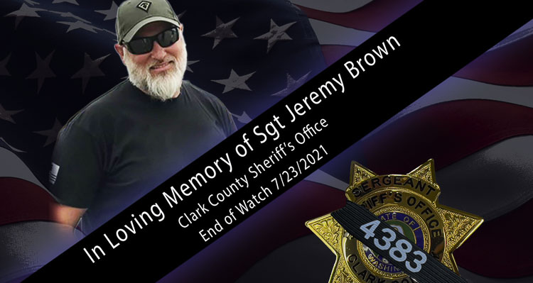 The memorial service for Clark County Sheriff's Office Sergeant Jeremy Brown will be held at 1 p.m. on Tue., Aug. 3. The location for the service is the ilani Casino Resort, located at 1 Cowlitz Way, in Ridgefield.