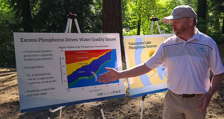 Organization says it will continue to take action in an effort to improve the water at Vancouver Lake, which includes bringing in experts to hold workshops to educate the public on what is needed.